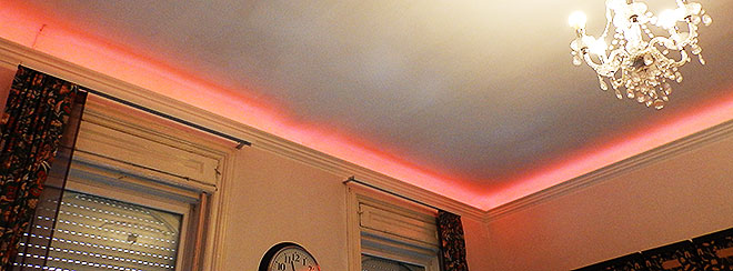 Colorful LED ceiling lighting