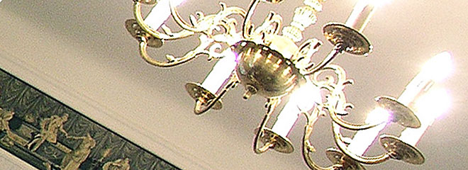 Studio White. Antique chandelier